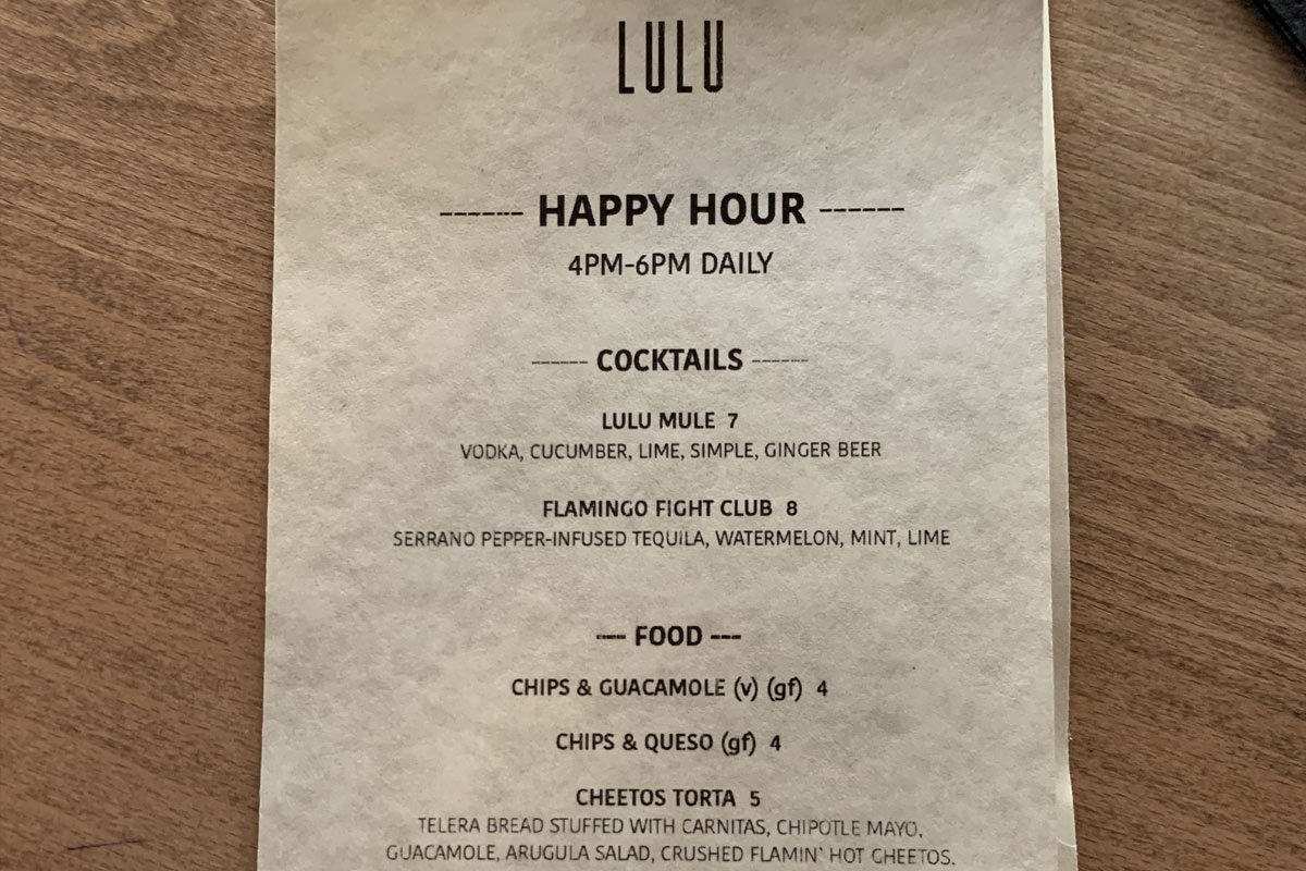 Lulu bar in Southern Portland