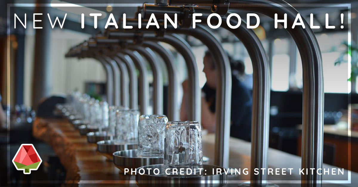 New Italian Food Hall In Portland!